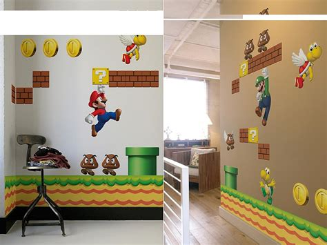 mario bros stickers wall mario wall decals 2017 grasscloth wallpaper