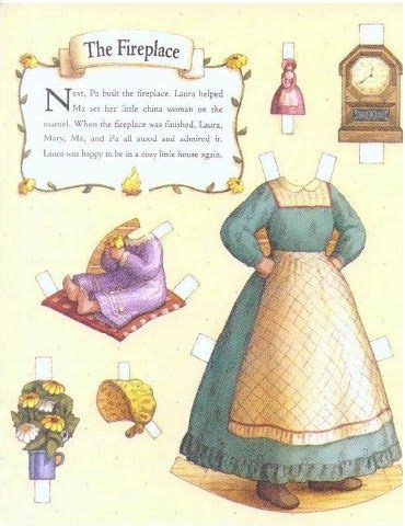 little house paper dolls little house on the prairie paper dolls stage screen books p