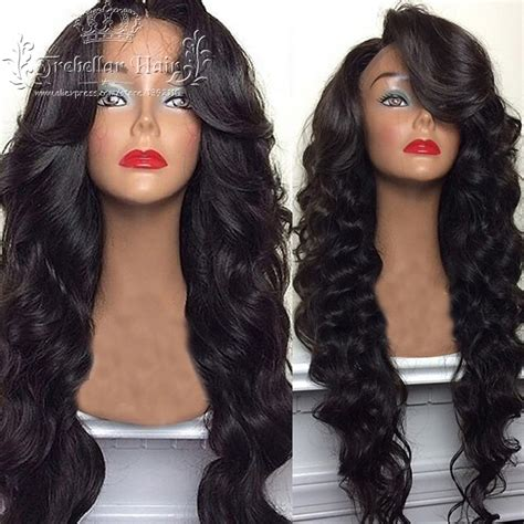 Front Wave Hairstyle by Wave Lace Human Hair Wig Best
