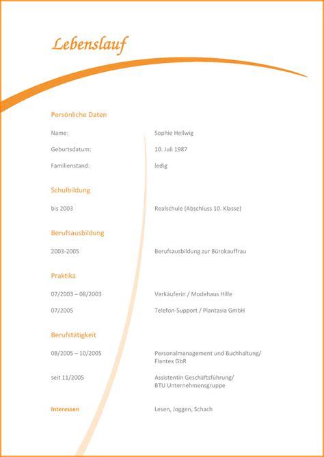 Lebenslauf Vorlagen Muster Kostenlos 8 Lebenslauf Vorlage Kostenlos Reimbursement Format