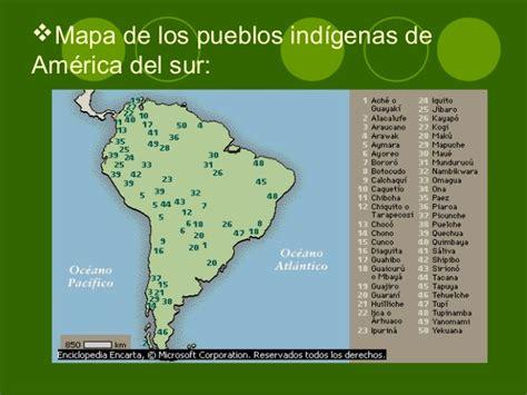 mapa america pueblos originarios pueblos originarios