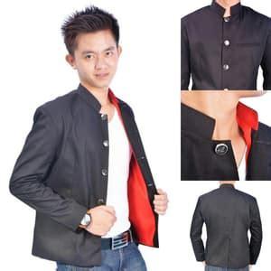 Jaket Jas Blazer Casual Merah etalase jaket kulit pria dunia blazzer indonesia