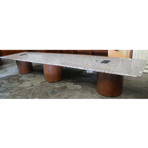 15 conference table 15ft pink granite conference table wood pedestal