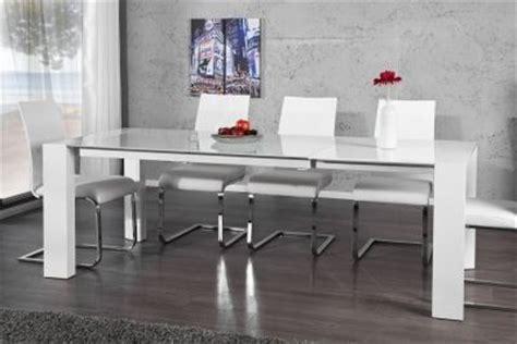 high esszimmertisch ausziehbarer design esstisch grenoble wei 223 high gloss glas