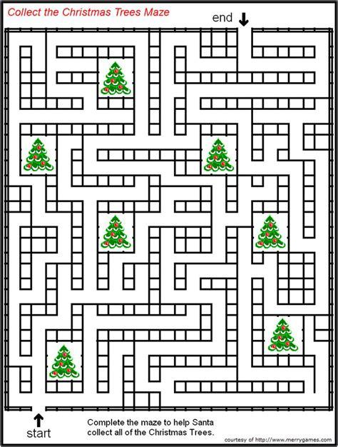 printable holiday mazes free free printable christmas mazes page 2 merry games