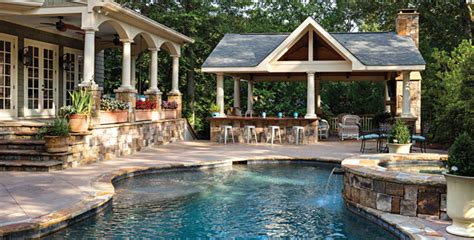 backyard designs with pool and outdoor kitchen plan your lawn garden outdoor kitchen pool and spa with