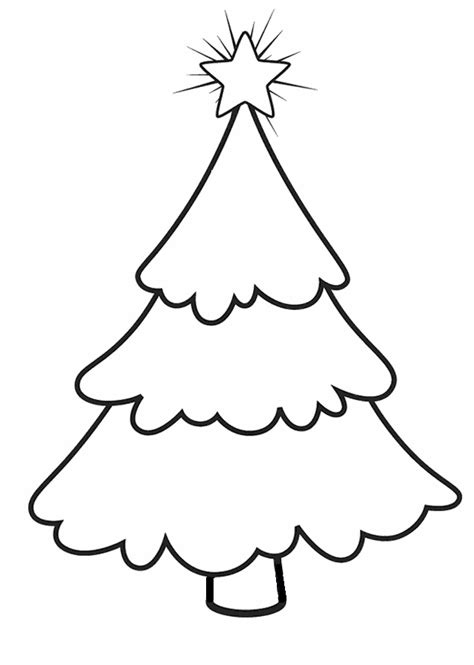 printable christmas tree tree printables az coloring pages
