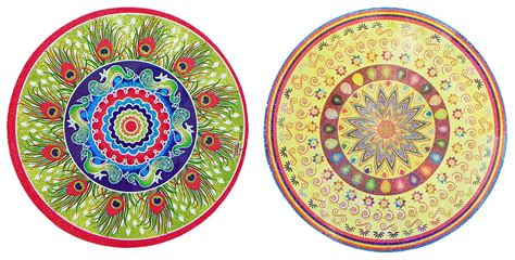printable sticker paper india pair of glaze paper sticker rangoli print 9 x 9 inches