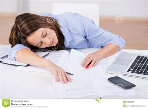 Student Sleeping On Desk by Sleeping At Classroom Desk Stock Photos Image