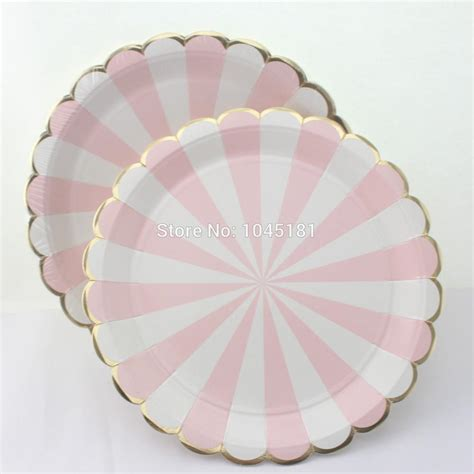 light pink paper dinner napkins ipalmay pink striped dinner paper tableware plates cups