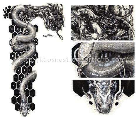 Kaos Nest 9 tatto design samurai by kaos nest on deviantart