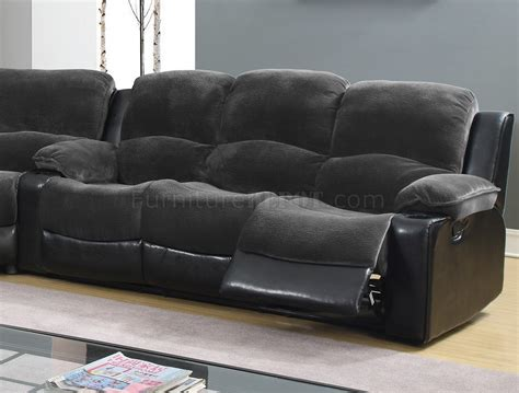motion sectional sofa 1301 motion sectional sofa in grey black by global
