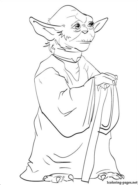 printable coloring pages of yoda star wars yoda coloring page coloring pages