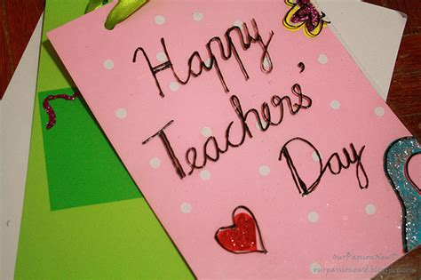 Teachers Day Handmade Greeting Cards - 2017 day card handmade and beautiful cards