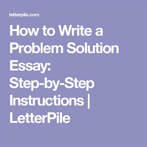 problem solution sle essay 1000 ideas about problem solution essay on