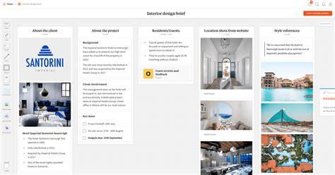 interior design presentation app interior design brief template exle project milanote