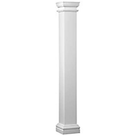 decorative columns home depot hb g fiberglass square column 8 inch x 8 inch x 8 feet