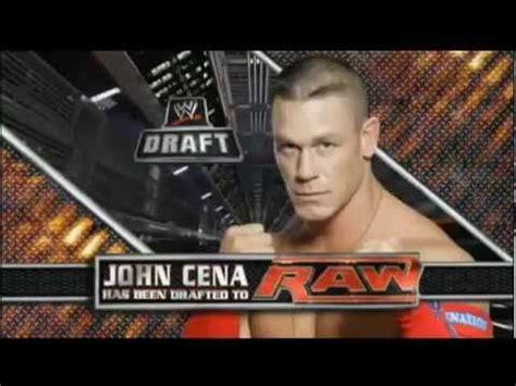john cena drafted   raw wwe draft  raw