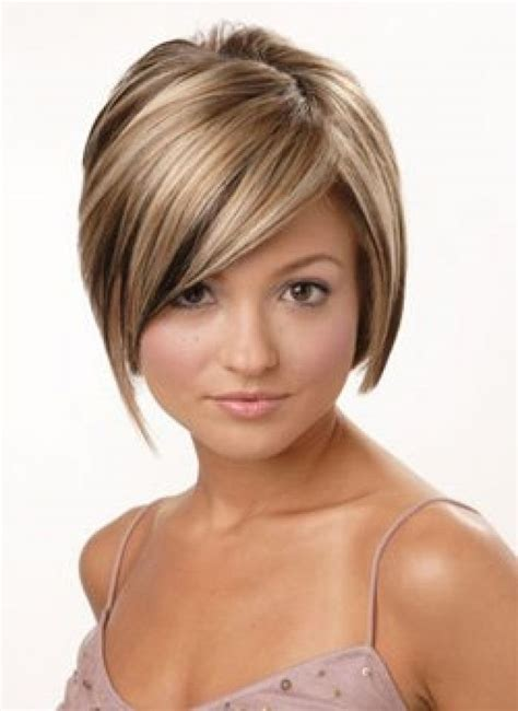haircuts with color and highlights short hairstyles with burgundy highlights brown