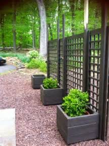 backyard privacy screens trellis put planting boxes on both sides to make both sides look
