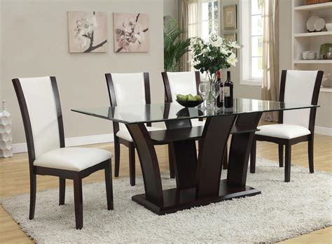 acme furniture dining room set acme furniture malik 5 piece dining rectangular table and chair set del sol furniture dining