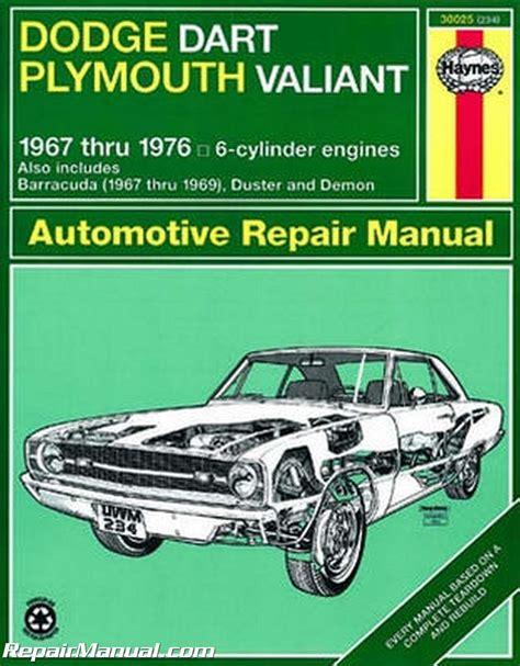 what is the best auto repair manual 1967 ford country user handbook haynes dodge plymouth dart demon valiant duster barracuda 1967 1976 repair manual