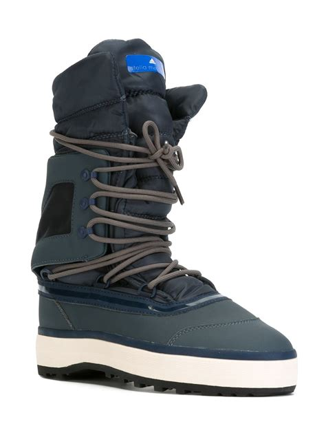 after ski boots adidas by stella mccartney lace up after ski boots in