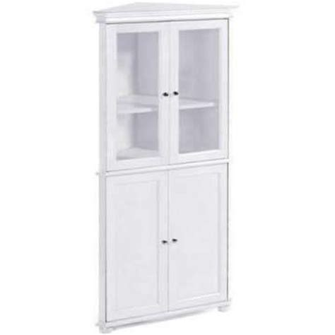 ikea kitchen tall corner cabinet hton bay 25 quot w corner four door tall cabinet