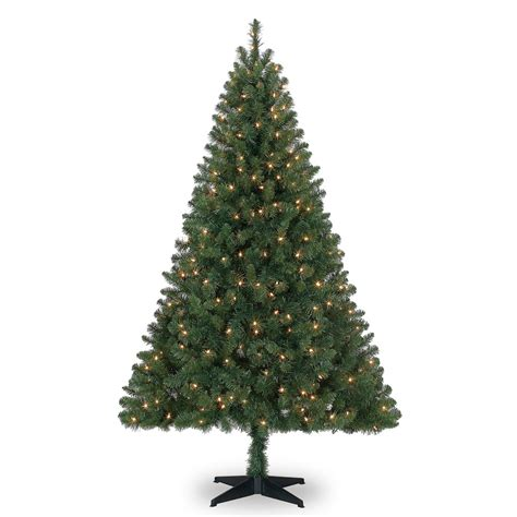 6 ft pre lit green windham spruce artificial tree clear lights by ashland