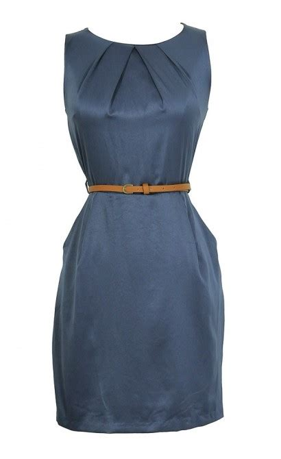 Classic Belted Sheath boutique classic belted sheath dress in navy