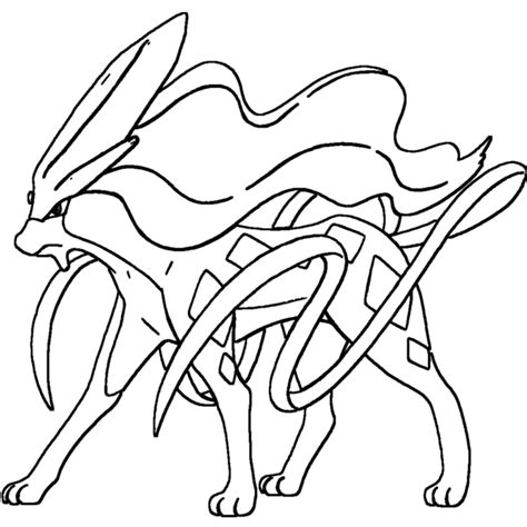 pokemon coloring pages suicune suicune lineart by skylight1989 on deviantart