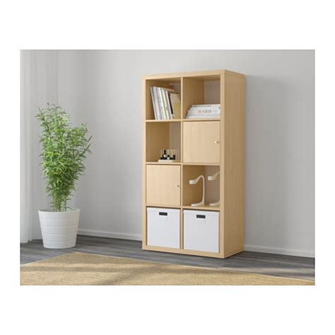 Ikea Bookcase Room Divider Kallax Shelving Unit Birch Effect 77x147 Cm Ikea