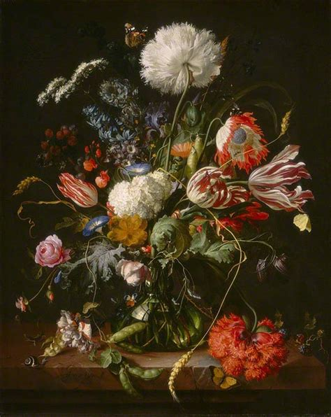 Jan Davidsz De Heem Vase Of Flowers by Looking With New At Scholarly Catalogues The