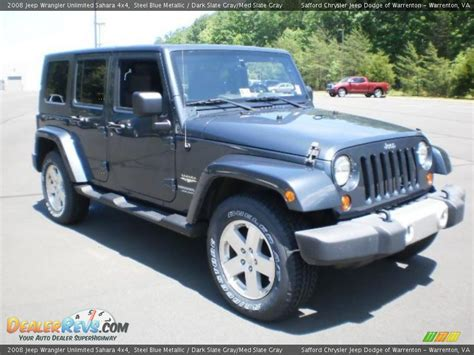 jeep blue grey 2008 jeep wrangler unlimited 4x4 steel blue