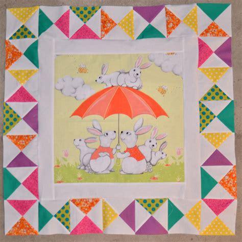 Rabbit Quilt Pattern by Rabbit Medallion Quilt Center 1st Border Mouse In
