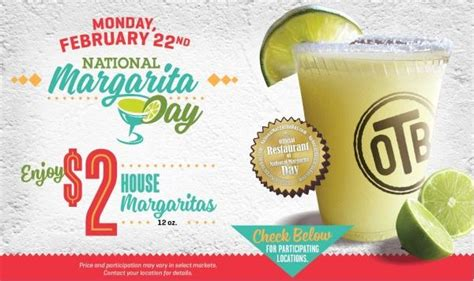 national margarita day national margarita day specials at chili s on the