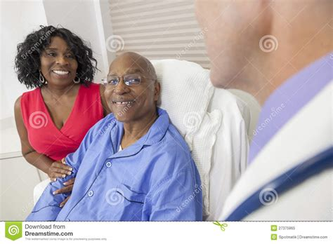 african men in bed senior african american man in hospital bed royalty free stock photo image 27375865