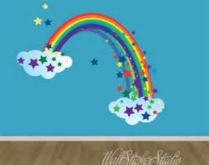rainbow wall stickers rainbow wall decals etsy