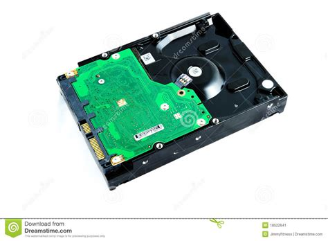 Harddisk Cpu an computer drive isolated stock image