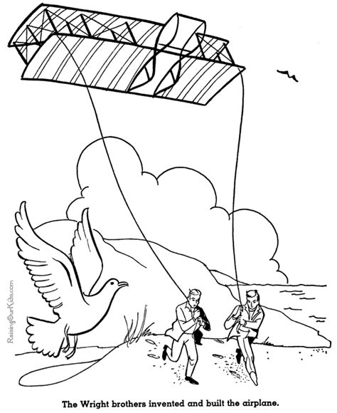 Wright Brothers Coloring Page Wright Brothers Plane Coloring Pages