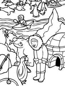 Eskimo Activity In Alaska Coloring Page  Color Luna sketch template