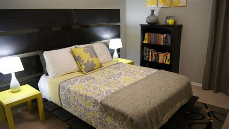 white yellow and grey bedroom yellow and gray bedroom update living small
