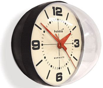 60s clock newgate 60s style bubble wall clock retro to go