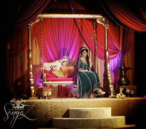 Bride on Sangeet Mehendi Stage   Weddings   Indian wedding