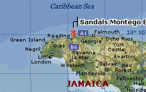 sandals montego bay map sandals montego bay resort map jamaica