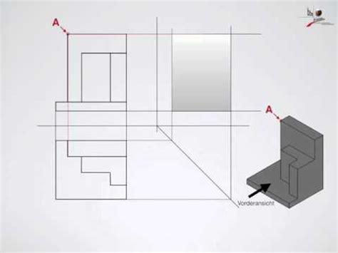 Technische Zeichnung Ansichten by Technisches Zeichnen 3 Ansichten Seitenansicht