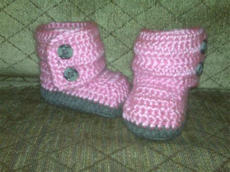 ugg baby slippers baby ugg booties by devonfebz crocheting pattern