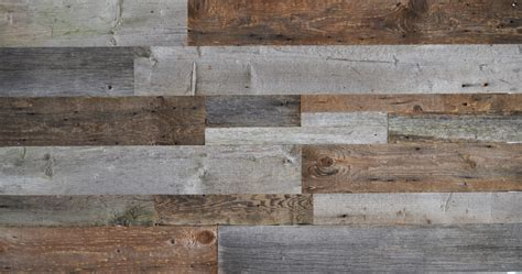 salvaged wood diy reclaimed wood accent wall grey and natural brown