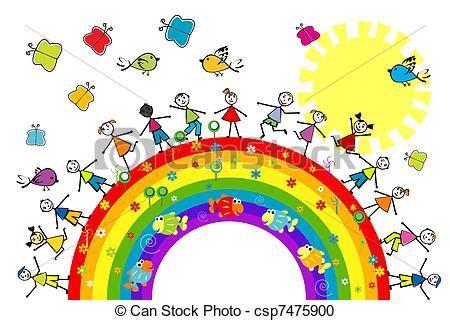 doodle significato italiano archivio illustrazioni di arcobaleno bambini gioco