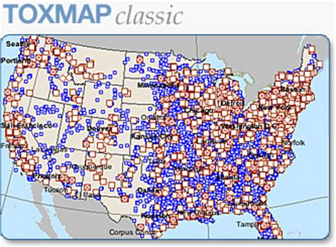 superfund map tri and superfund environmental maps toxmap